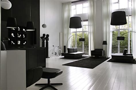 black living room furniture interior design ideas