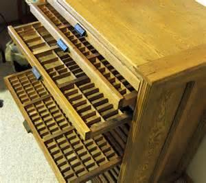 Hamilton Antique Printer Cabinet