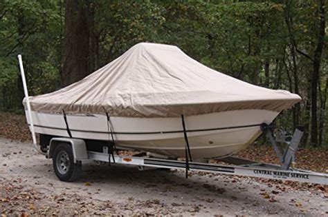 18 Center Console Boat Covers by Vortex Heavy Duty Beige Center Console Boat Cover