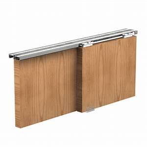 systeme porte coulissante apis pour 2 portes de placard With systeme porte coulissante placard