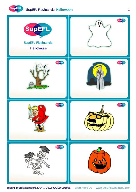 Supefl Flashcards Halloween