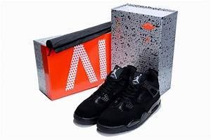 Cheap Authentic Air Jordan 4 Limited Edition All Black On ...