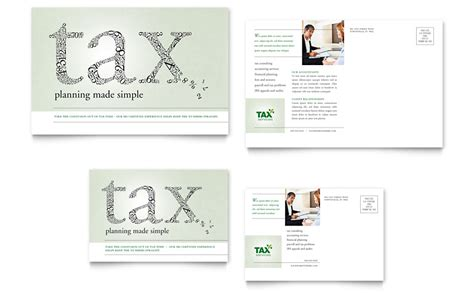 accounting tax services postcard template word publisher