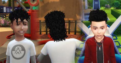 sims  blog brillit boy curls conversion  boy