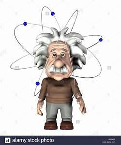 Albert Einstein With A Atom Stock Photo  19114714