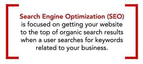 seo definition in marketing seo search engine optimization