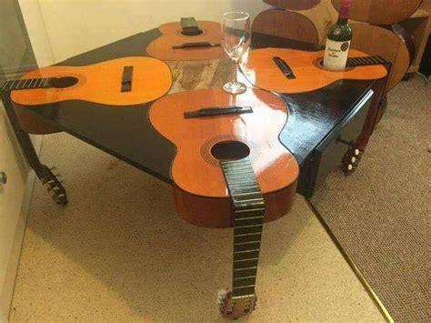 guitar table  bottlecup holders  furniture