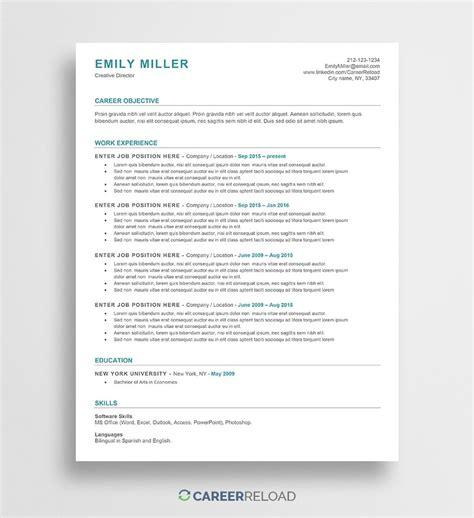 word resume templates  microsoft word cv templates