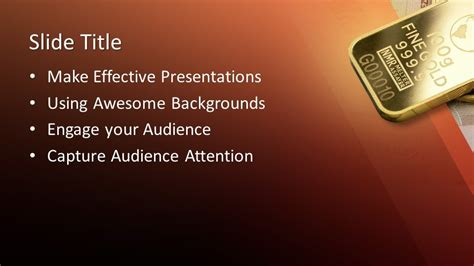 Free Pure Gold PowerPoint Template - Free PowerPoint Templates