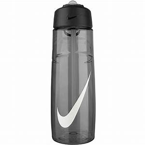 Nike Flow Swoosh Water Bottle 24Oz Anthracite white