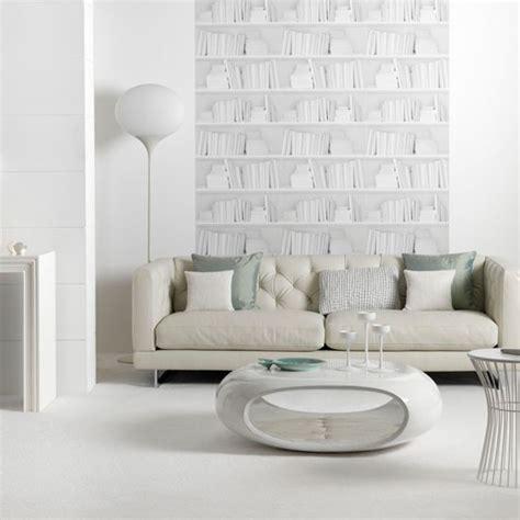 contemporary white living room living room idea