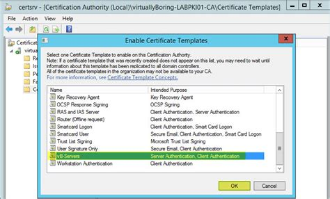 setup microsoft active directory certificate