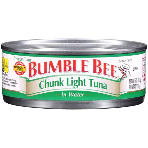 bumble bee chunk light tuna tuna in water