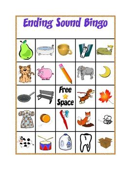 sound bingo  kindergarten kreative teachers pay teachers
