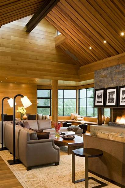 Living Sectional Vaulted Sofa Contemporary Ceiling Wood