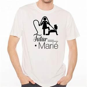 T Shirt Homme Blanc : t shirt homme blanc evg futur mari ketshooop t shirts anniversaires rigolos humour ~ Melissatoandfro.com Idées de Décoration