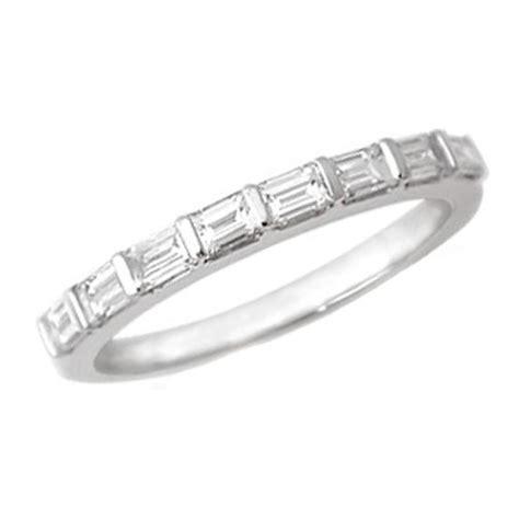 baguette cut diamond platinum wedding band g vs 0 51 tcw