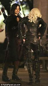 Katie Cassidy And Katrina Law Look Fearsome Filming CW39s