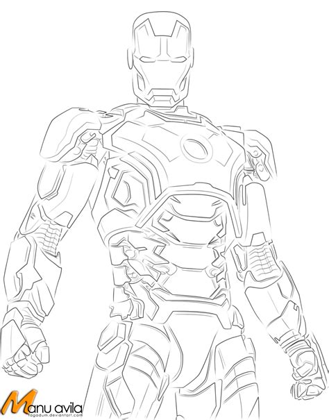 Iron Man Suit Coloring Pages For Kids Iron Man Pinterest