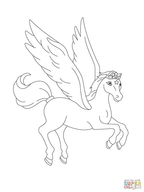 flying horse coloring pages  getcoloringscom  printable colorings pages  print  color