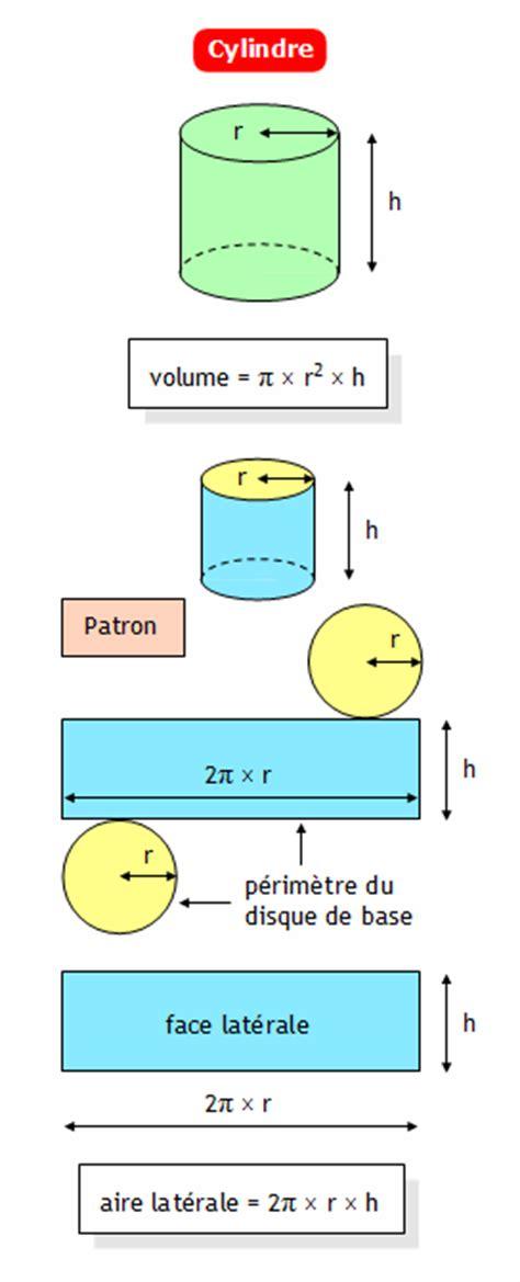 comment calculer la surface d une chambre formulaire de géométrie collège aire latérale et volume d