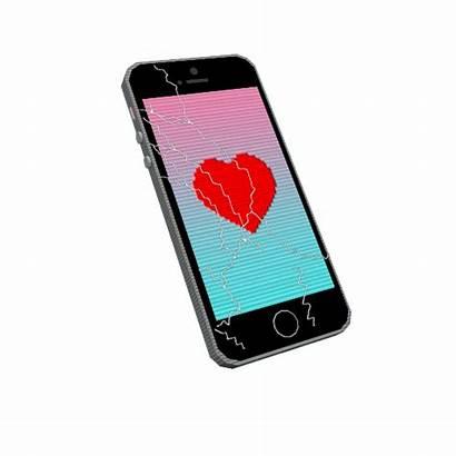 Iphone Phone Gifs Heart Giphy Break Sticker