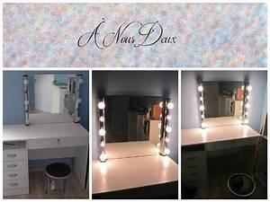 Miroir De Coiffeuse : diy vanity mirror miroir de star miroir pour coiffeuse youtube ~ Teatrodelosmanantiales.com Idées de Décoration