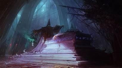 Sorcerer Creepy Wallpapers Dark Cave Background Computer