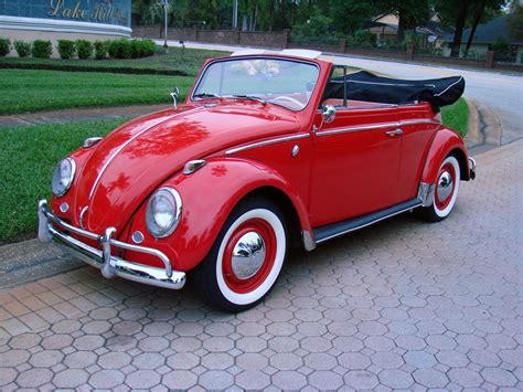 red volkswagen convertible 1963 volkswagen beetle convertible 170848