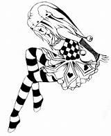 Jester Drawing Drawings Tattoo Court Clown Jesters Tattoos Creepy Evil Clowns Sketch Anime Draw Harlequin Deviantart Cartoon Skull Clipart Getdrawings sketch template