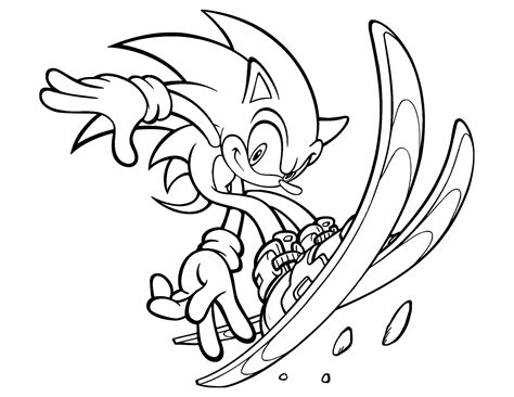 Sonic The Hedgehog Coloring Pages Coloringsuitecom