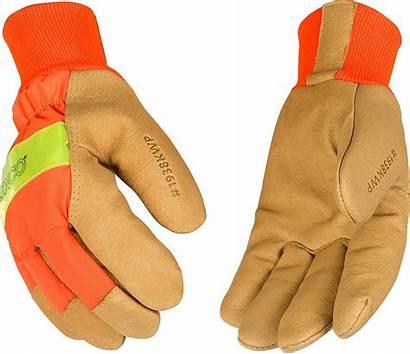 Gloves Kinco Waterproof Pigskin Vis Hi Orange