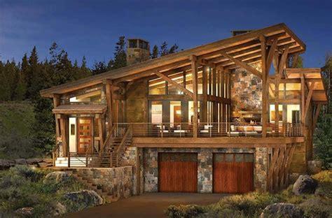 modern log  timber frame homes  plans