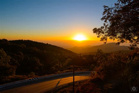 sunrise mountain road background high quality