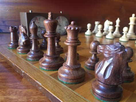 Deluxe Staunton 6 Chess Set Mid 20th Century