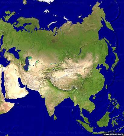 Asia Satellite Maps Map Continental Primap Geography