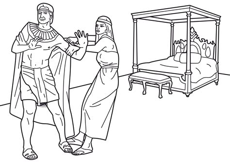Joseph And Potiphar Coloring Sheet Pages