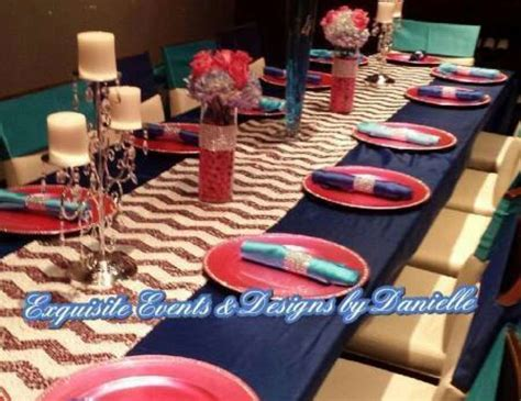 Shades Of Blue, Shades Of Pink 40th Birthday Dinner