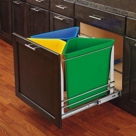 kitchen cabinet recycling center rev a shelf premiere quot trash recycle center 75 quart 5681