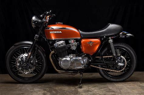 classic honda honda cb750 restomod by hoy vintage cycles bikebound