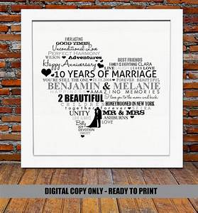 personalized 10th anniversary gift 10 year wedding by With 10 year wedding gift