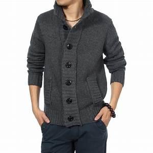 Veste En Laine Homme : veste en laine pour homme avec fermeture bouton et col haut ~ Carolinahurricanesstore.com Idées de Décoration