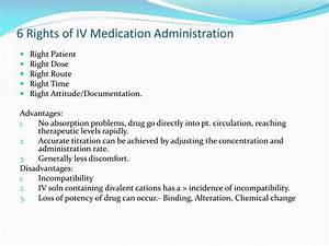 ppt iv therapy powerpoint presentation id7022999 With 6 rights of medication