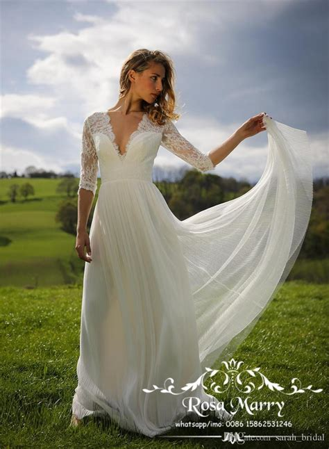 discount modest  size country beach wedding dresses