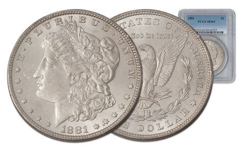 1881 Us Morgan Silver Dollar Philadelphia Pcgs Ms64