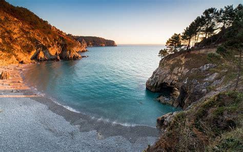 nature, Landscape, Beach, Sunset, Sea, Trees, Cave, Hill ...