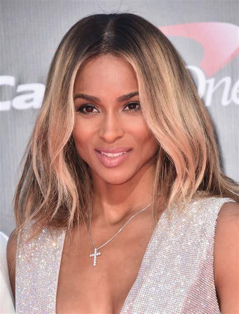 Ciara Hairstyle by Ciara Medium Wavy Cut Hair Lookbook Stylebistro