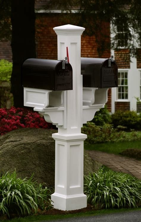 wood shop    double mailbox post wood plans
