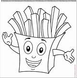 French Coloring Fries Character Pages Characters Drawing Food Google Violin Cartoon sketch template