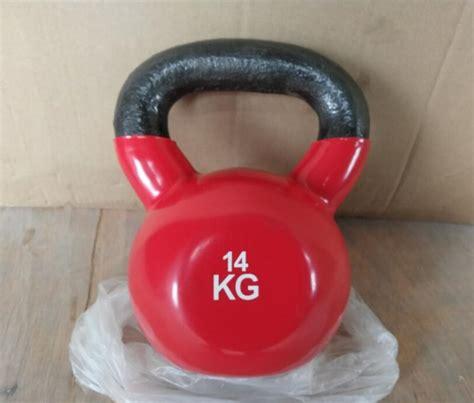 kettlebell dip weight bell dumbbell 14kg plastic lifting fitness kettle